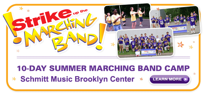 Strike Up The Marching Band, marching camp at Schmitt Music Brooklyn Center!