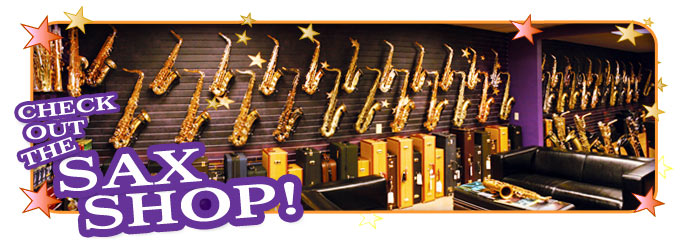 Saxophone Pro Shop Showroom