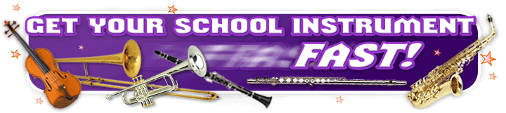 Get your school music instrument fast!