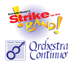 Strike Up The Band, Orchestra Continuo logos, Schmitt Music