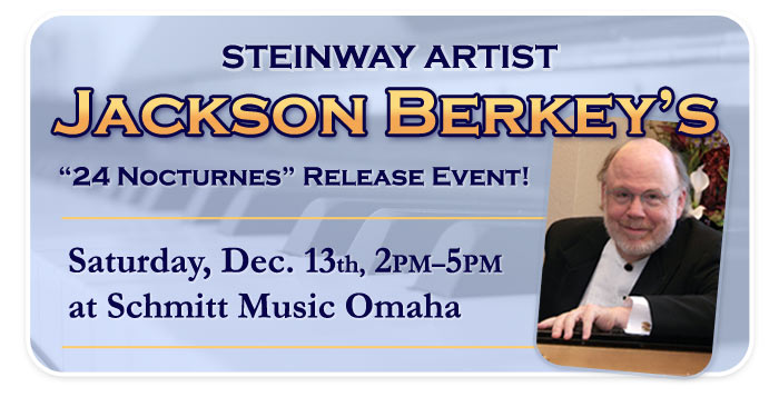 Jackson Berkey 24 Nocturnes CD release event at Schmitt Music Omaha