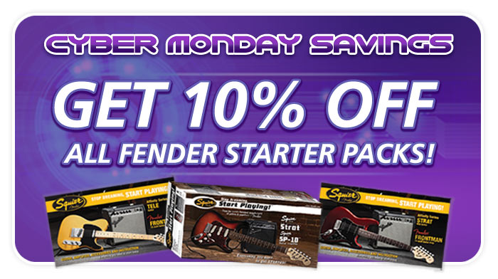 Fender packs 10% OFF!