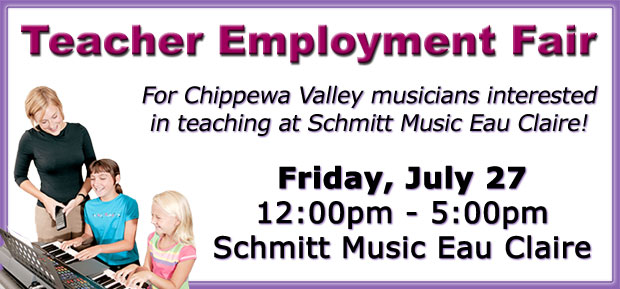 Teacher Employment Fair at Eau Claire music store