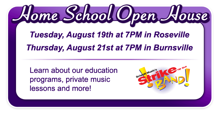 Home School Open House at Schmitt Music stores!