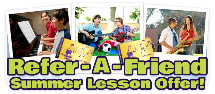 Refer-a-Friend Summer Music Lesson Offer at Schmitt Music!