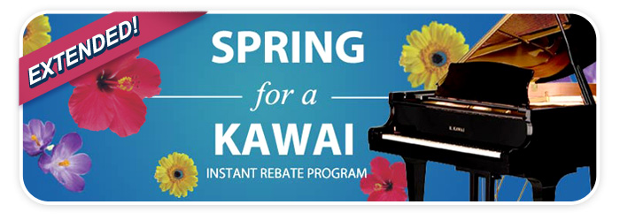 Kawai piano instant rebates in April