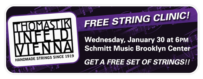 String Shop Clinic at Schmitt Music Brooklyn Center!