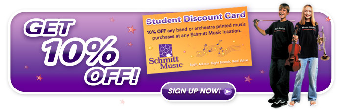 Student Band and Orchestra Discount card