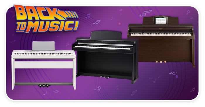 Digital keyboards at Schmitt Music, back-to-school