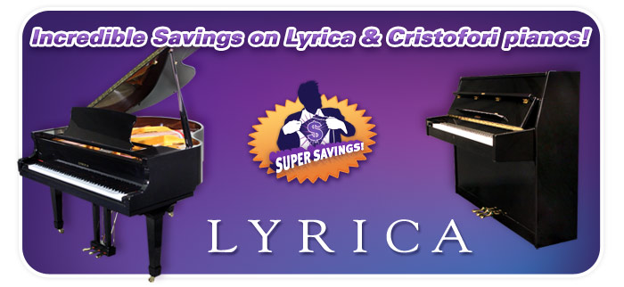 Lyrica piano, Cristofori piano sale!