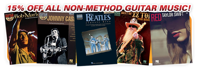 15% off guitar books!