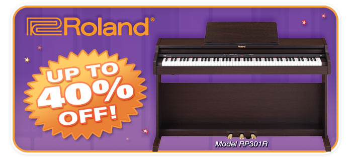 Roland digital pianos up to 40% OFF sale!
