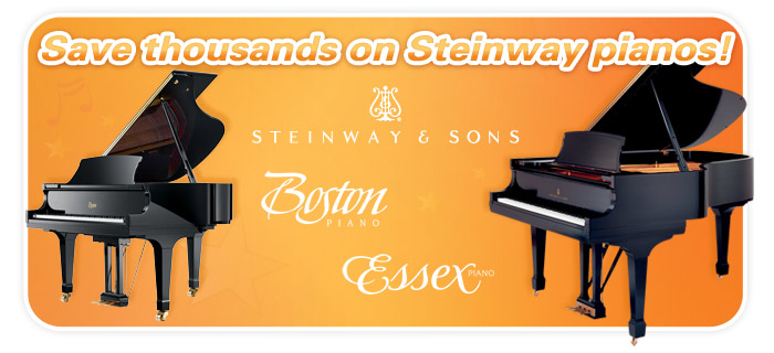 Steinway, Boston, Essex piano sale