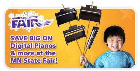 digital piano sale at the Minnesota State Fair