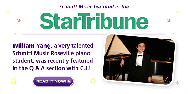 William Yang, Schmitt Music featured in the Star Tribune
