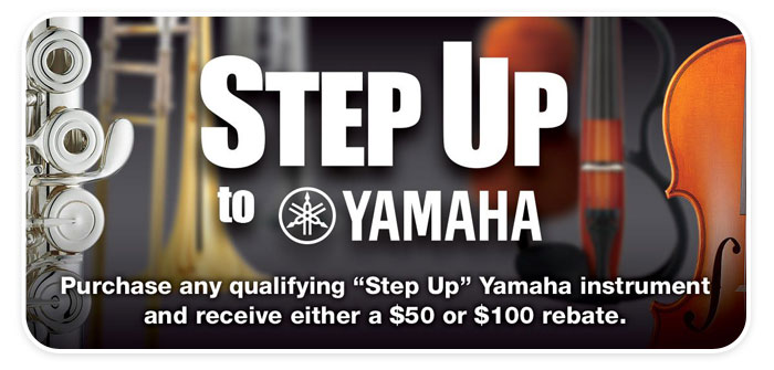 Step Up to Yamaha and Get a Rebate up to $100 at Schmitt Music!