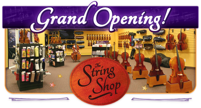 "The String Shop ""Grand Opening"" events November 10 – 17 at Schmitt Music Brooklyn Center"