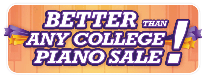 """Better Than Any College Piano Sale"" this weekend at Schmitt Music Kansas City!"