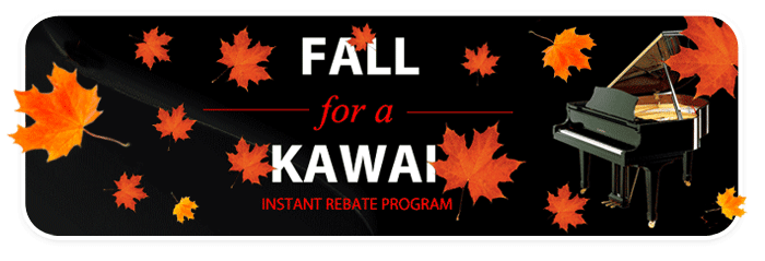 Instant Rebates up to $1,000 on qualifying new KAWAI pianos!