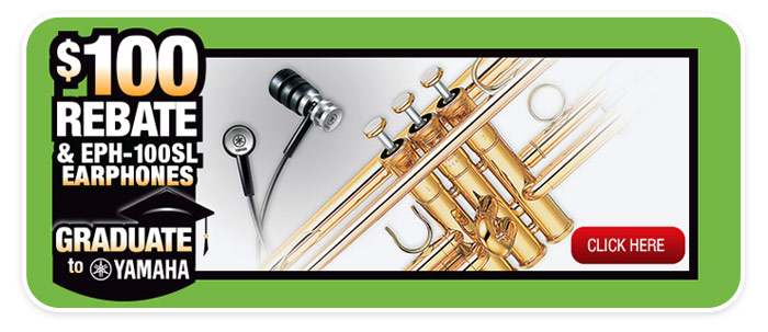 """Graduate to Yamaha"" and GET A $100 REBATE, plus free earphones!"