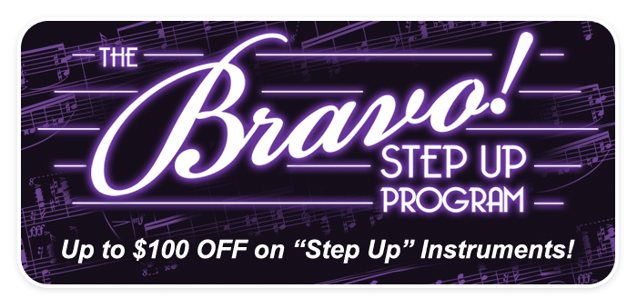 'Bravo! Step Up' Instrument Savings at Schmitt Music!