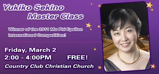 Yukiko Sekino Piano Master Class – Kansas City