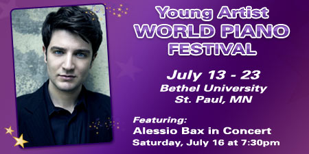 Young Artist World Piano Festival – Alessio Bax Concert – St. Paul, MN
