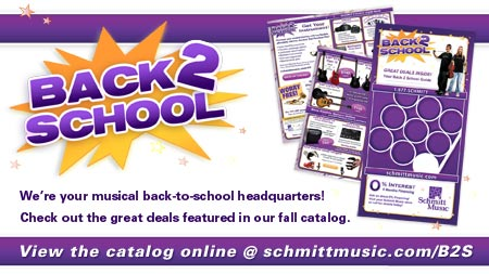 Back 2 School Savings at your Schmitt Music store!