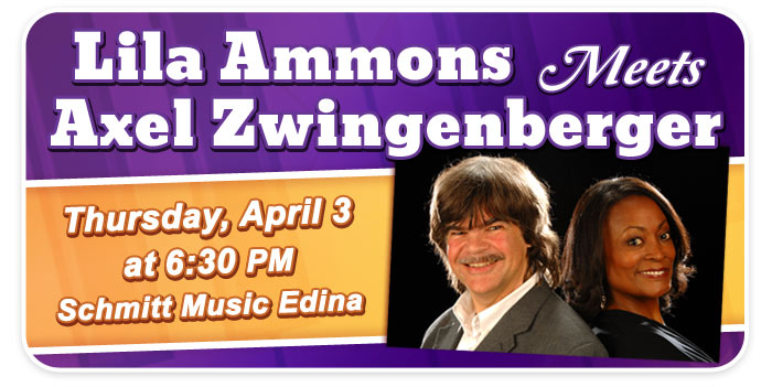 Lila Ammons Meets Axel Zwingenberger – Blues & Boogie Woogie at Schmitt Music Edina!