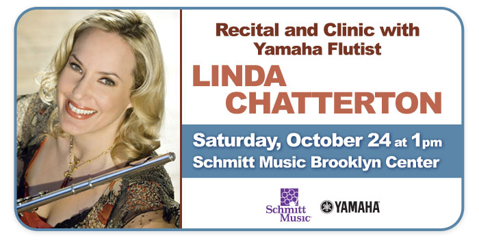 Yamaha Flutist Linda Chatterton, Recital and Clinic at Schmitt Music Brooklyn Center!