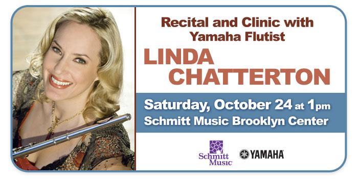 Yamaha Flutist Linda Chatterton, Recital and Clinic at Schmitt Music Brooklyn Center!