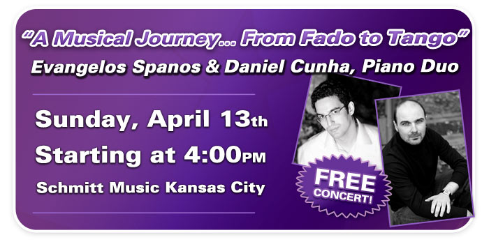 """A Musical Journey…"" with Evangelos Spanos & Daniel Cunha, Piano Duo!"