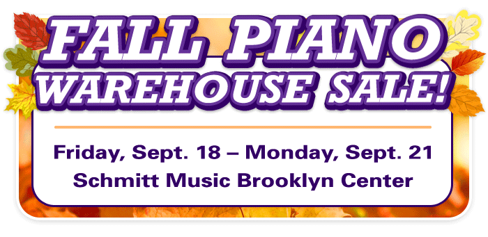 Fall Piano Warehouse Sale in the Twin Cities!
