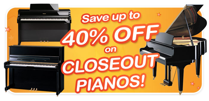 Year-End Piano Closeouts at Schmitt Music Denver!