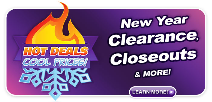 New Year Clearance & Closeouts at Schmitt Music stores!