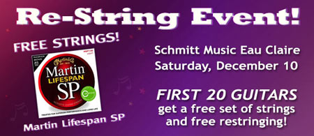 FREE Martin strings – Restring Event – Eau Claire, WI