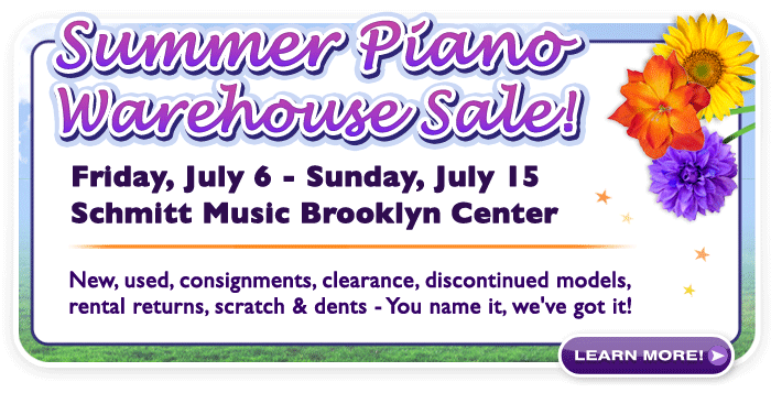 Summer Piano Warehouse Sale at Schmitt Music Brooklyn Center