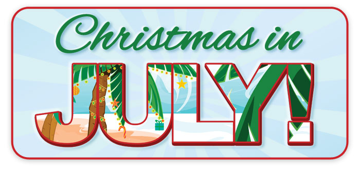 """Christmas in July"" celebration at your Schmitt Music store!"