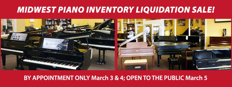 Midwest Piano Inventory Liquidation Sale in Kansas City