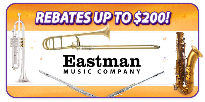 Rebates up to $200 on Eastman Brass and Woodwind Instruments at Schmitt Music!