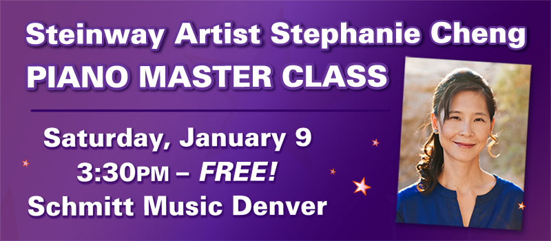 Master Class with Steinway Artist Stephanie Cheng at Schmitt Music Denver!