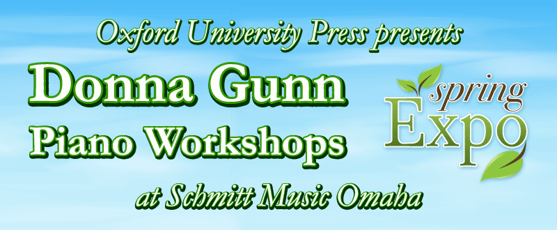 Spring Expo: Oxford University Press presents Donna Gunn at Schmitt Music Omaha