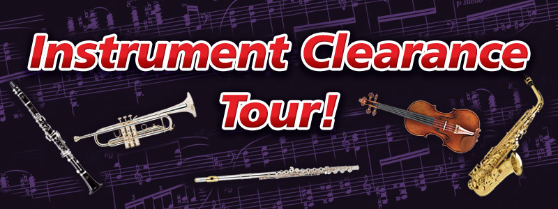 Spring Expo: Band & Orchestra Instrument Clearance Tour!