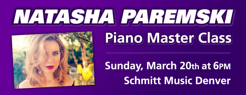 Piano Master Class with Natasha Paremski at Schmitt Music Denver