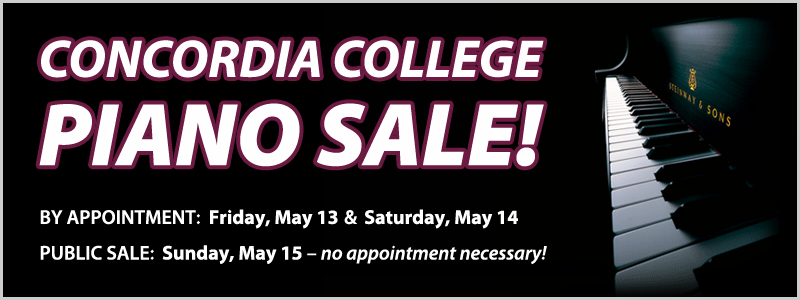 Concordia College Piano Sale