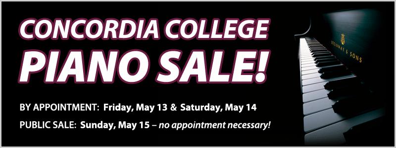 Concordia College Piano Sale