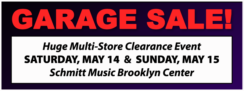 Garage Sale Clearance Event at Schmitt Music Brooklyn Center!