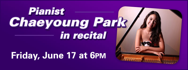 Pianist Chaeyoung Park in Recital at Schmitt Music Kansas City