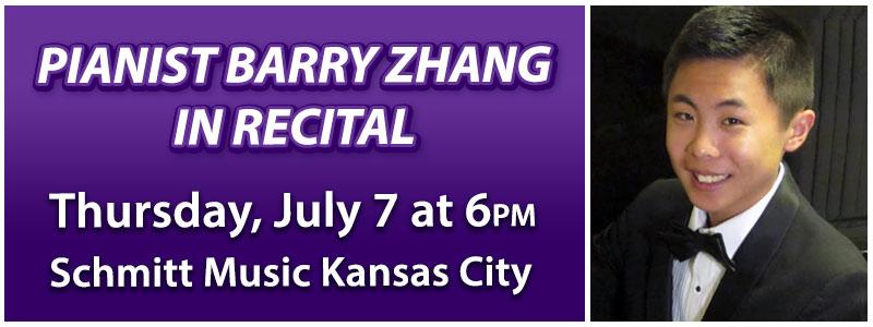 Pianist Barry Zhang in Recital