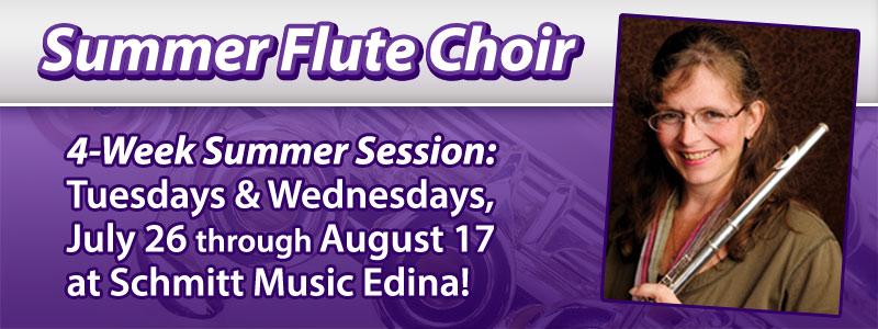 Summer Flute Choir Workshop at Schmitt Music Edina!